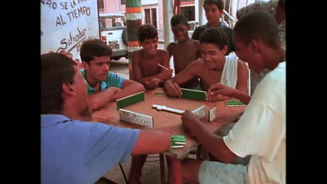 People-play-dominos-on-the-street-in-Havana-Cuba-in-the-1980s