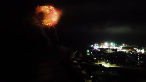 Aerial-Over-A-Fireworks-Show-Above-A-County-Fair-In-Ventura-California