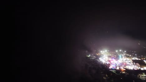 Aerial-Over-A-Fireworks-Show-Above-A-County-Fair-In-Ventura-California-1