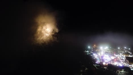 Aerial-Over-A-Fireworks-Show-Above-A-County-Fair-In-Ventura-California-2