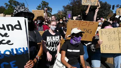 Extreme-Slo-Mo-Protesters-Chanting-And-Holding-Signs-During-A-Black-Lives-Matter-Blm-Parade-In-Ventura-California-2