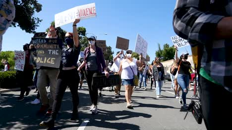 Extreme-Slo-Mo-Marching-Protesters-During-A-Black-Lives-Matter-Blm-March-In-Ventura-California-With-Signs-2
