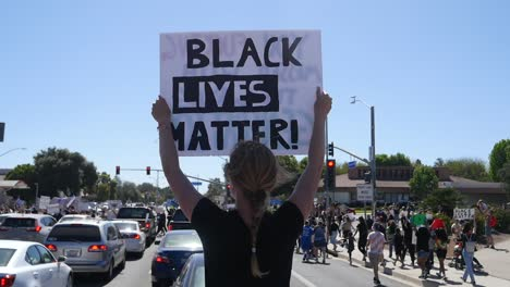 Extreme-Slo-Mo-Signs-From-A-Car-During-A-Black-Lives-Matter-Blm-March-In-Ventura-California