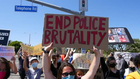 Extreme-Slo-Mo-Signs-Say-End-Police-Brutality-During-A-Black-Lives-Matter-Blm-March-In-Ventura-California