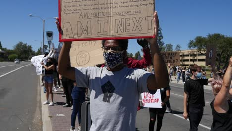 Extreme-Slo-Mo-Black-Man-Sign-Says-Am-I-Next-During-A-Black-Lives-Matter-Blm-March-In-Ventura-California