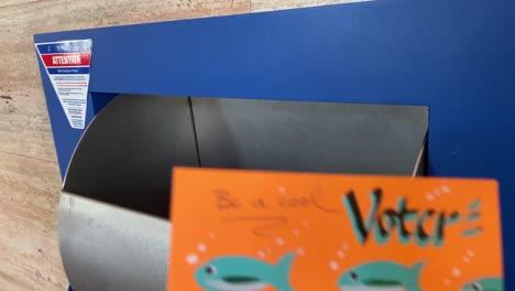 A-Volunteer-Mails-Homemade-Voter-Registration-Voting-Reminder-Postcards-Cards-Prior-To-The-2020-Elections-2