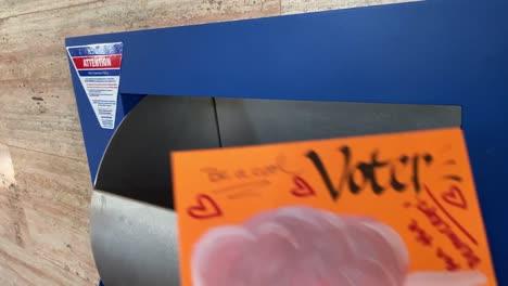 A-Volunteer-Mails-Homemade-Voter-Registration-Voting-Reminder-Postcards-Cards-Prior-To-The-2020-Elections-3