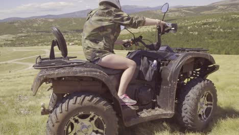 People-Ride-Atv-Across-The-Hillsides-Of-Croatia-In-This-Adventure-Off-Road-Clip