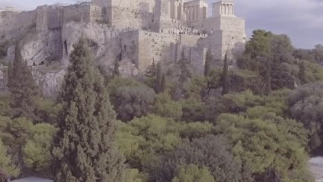 Good-Drone-Aerial-Shot-Of-The-Parthenon-Acropolis-In-Athens-Greece-Greek-Architecture