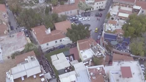 Incline-Hacia-Arriba-La-Toma-Aérea-De-Drone-De-Atenas-Grecia