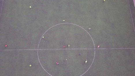 Good-Drone-Aerial-View-Over-A-Soccer-Match-On-A-Soccer-Field