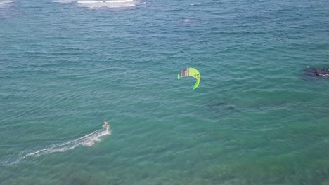 Drone-Aerial-Over-A-Windsurfer-On-The-Isalnd-Of-St-Kitts-Caribbean