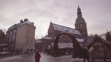 Time-Lapse-Of-People-Walking-Through-Downtown-Riga-Latvia