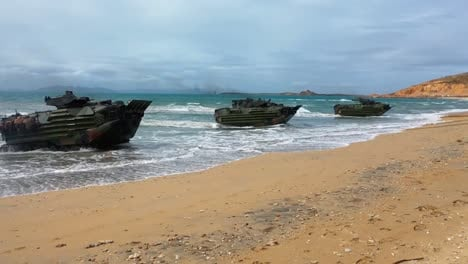 Forces-From-The-United-States-Australia-United-Kingdom-And-Japan-Commence-An-Amphibious-Beach-Assault-Talisman-Saber-At-King-S-Beach-In-Bowen-Queensland-July-22-2019