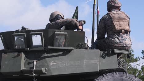 Us-Marine-Gunners-Train-On-Lav25-Tanks-At-Camp-Lejeune