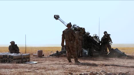 As-Part-Of-Operation-Inherent-Resolve-American-Artillerymen-Stationed-In-Iraq-Fire-On-Enemy-Positions