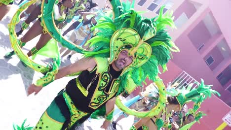 Dncers-And-Performers-In-Costume-During-A-Large-Carnival-Or-Mardi-Gras-Street-Parade-In-Belize-City-Belize
