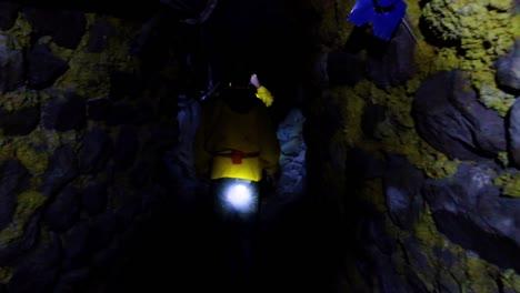 Pov-Shot-Walking-Underground-Through-The-Potosi-Silver-And-Tin-Mine-In-Bolivia-South-America
