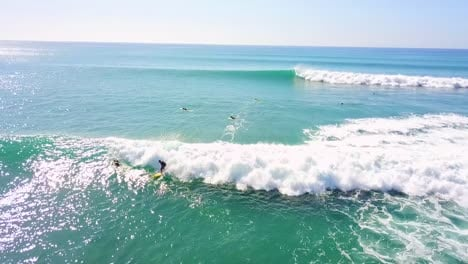 Aerial-Of-Surfers-Catching-Nice-Waves-And-Surfing-In-Cabo-San-Lucas-Baja-Mexico-1