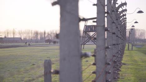 Pan-A-Lo-Largo-De-Alambre-De-Púas-En-El-Campo-De-Concentración-Nazi-De-Auschwitzbirkenau-Polonia-2