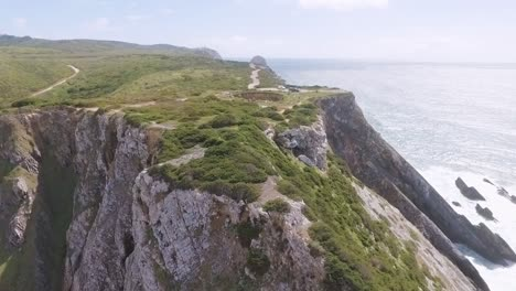Aerial-In-The-Region-Of-Rock-Cave-Along-The-Atlantic-Coast-Of-Portugal