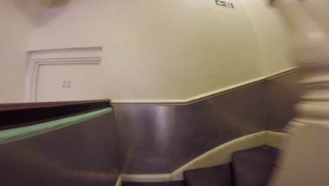 Fast-Motion-Pov-Of-Shot-Climbing-Many-Stairs-And-Staircases-In-A-Hotel-To-Reach-A-Room