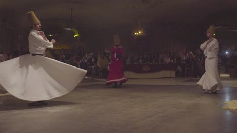 Whirling-Dervishes-Spin-In-A-Trance-In-A-Darkened-Mosque-In-Turkey-3