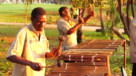 Africans-Play-The-Marimba-Or-Xylophone-In-A-Music-Festival-In-Zambia