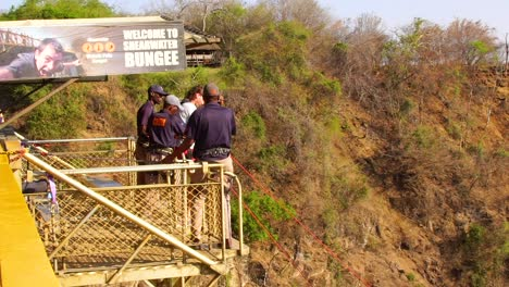 Incredible-Slow-Motion-Of-A-Man-Bungee-Jumping-Off-A-Bridge-In-Zambia-Zimbawbwe-Africa