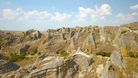 Beautiful-Aerial-Over-Stone-Rock-Formations-In-Madagascar-Africa