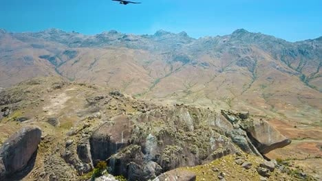 Beautiful-Aerial-Over-Stone-Rock-Formations-In-Madagascar-Africa-1