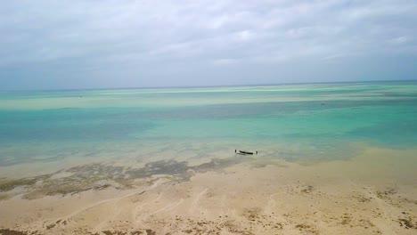 Aerial-Over-A-Resort-Hotel-Along-The-Coast-Of-Madagascar