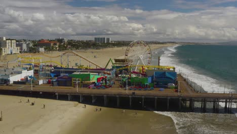 Aerial-Of-Abandoned-Closed-Santa-Monica-Pier-During-Covid19-Corona-Virus-Outbreak-Epidemic-2