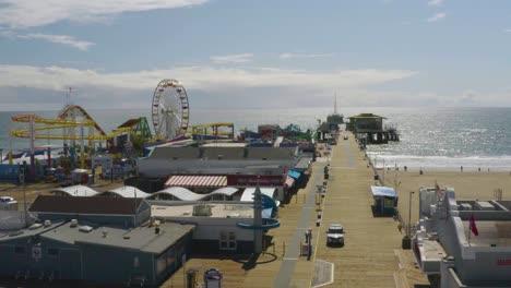 Aerial-Of-Abandoned-Closed-Santa-Monica-Pier-During-Covid19-Corona-Virus-Outbreak-Epidemic-5