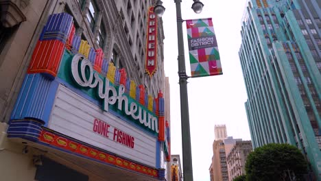 Closed-Theater-Marquee-Says-Gone-Fishing-During-Covid19-Corona-Virus-Outbreak-Epidemic