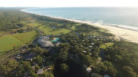 An-aerial-view-shows-the-Elements-of-Byron-resort-in-New-South-Wales-Australia