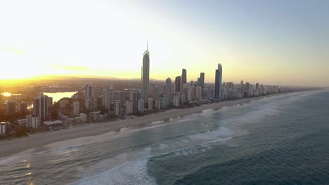 The-skyline-of-Surfers-Paradise-a-seaside-resort-in-Queensland-Australia-is-seen-at-sunset-1