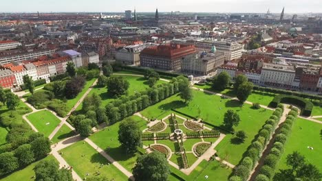 An-aerial-view-shows-people-enjoying-a-public-park-on-the-outskirts-of-Copenhagen-Denmark