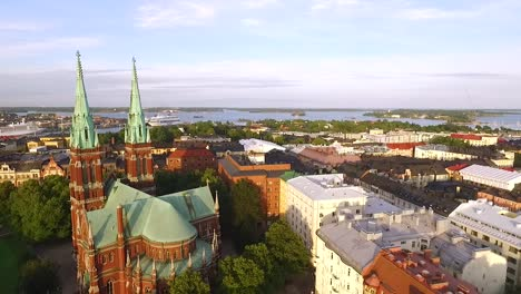 An-aerial-view-shows-St-John-s-Church-in-Helsinki-Finland