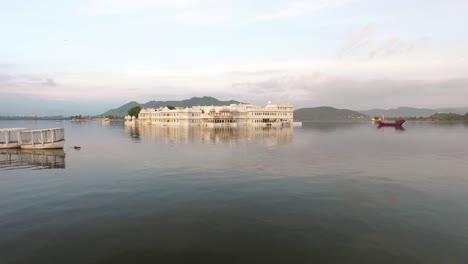 The-Taj-Lake-Palace-on-Lake-Pichola-in-Udaipur-India-is-seen