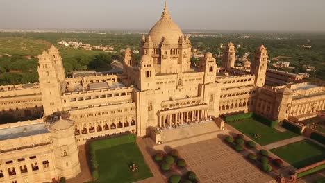 An-aerial-view-shows-the-Umaid-Bhawan-Palace-in-Jodhpur-India