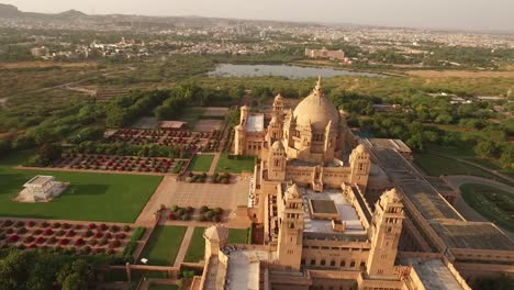 An-aerial-view-shows-the-Umaid-Bhawan-Palace-and-its-grounds-in-Jodhpur-India