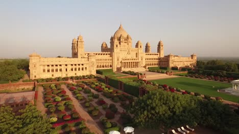 An-aerial-view-shows-the-Umaid-Bhawan-Palace-and-its-grounds-in-Jodhpur-India-4