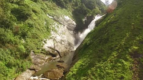 A-waterfall-is-seen-in-Kerala-India