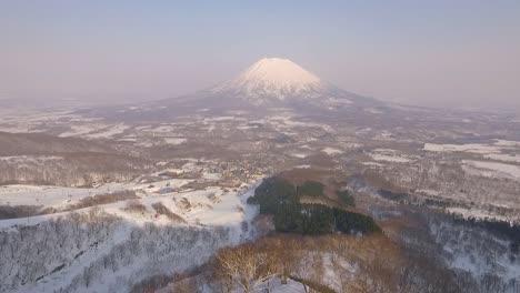 The-Niseko-Annupuri-mountain-is-seen-covered-in-snow-in-Hokkaido-Japan