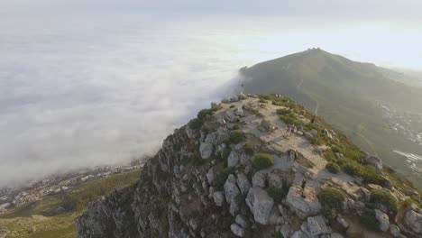 An-aerial-view-shows-tourists-atop-the-Lion-s-Head-mountain-in-Cape-Town-South-Africa