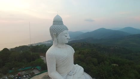 An-aerial-view-shows-The-Great-Buddha-of-Phuket-located-in-Phuket-Thailand