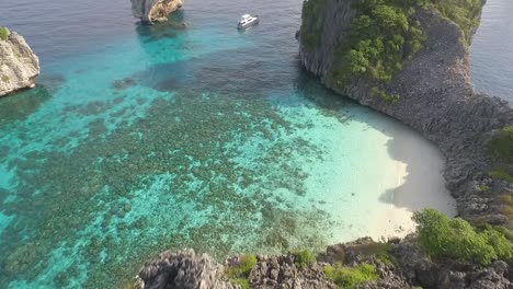 An-aerial-view-shows-boats-by-the-Koh-Haa-islands-of-Thailand-2