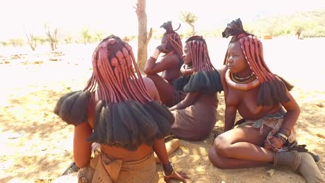 Himba-tribal-women-show-off-their-mud-hair-extensions-and-unusual-braided-dreadlocked-hairstyles-1