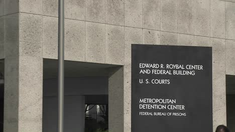 A-zoom-back-from-a-Federal-Detention-Center-in-Los-Angeles
